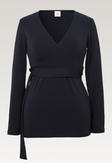Giselle wrap top - Midnight blue - M (6) - Maternity top / Nursing top