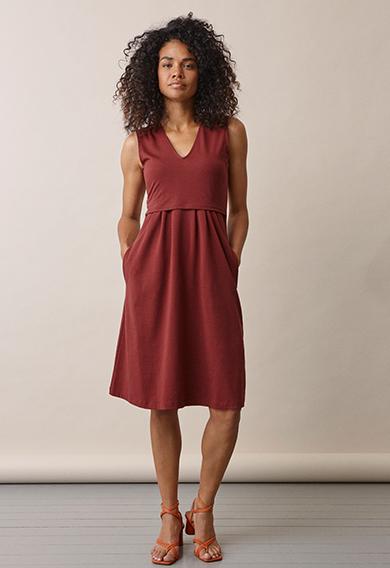 Tilda dressport red (2) - Umstandskleid / Stillkleid