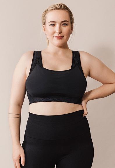 Fast Food sports bra - Black - M (3) - Maternity underwear / Nursing underwear