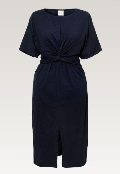 Zadie s/s dressmidnight blue (8) - Gravidklänning / Amningsklänning