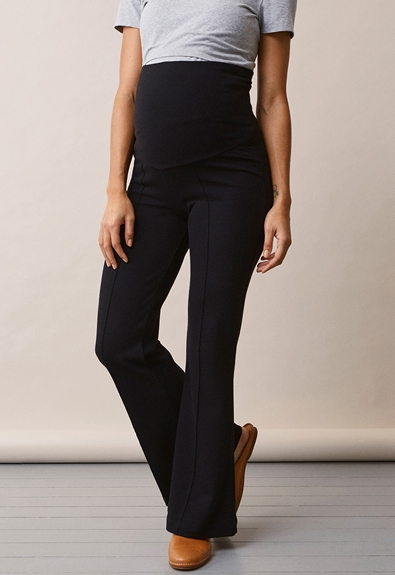 Once-on-never-off flared pants - Black - L (4) - Maternity pants
