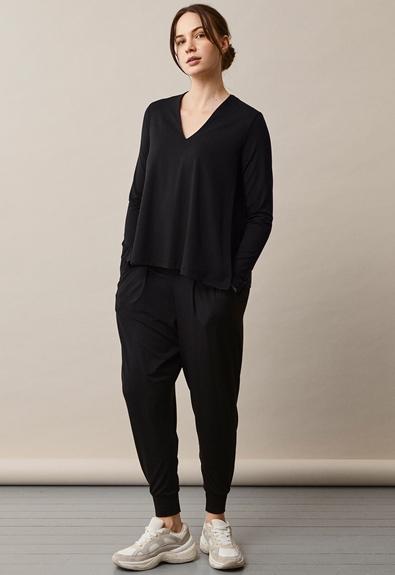 Easy v-neck top - Black - XL (4) - Maternity top / Nursing top