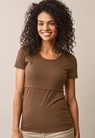 Classic short-sleeved top - Hazelnut - S - small (1)
