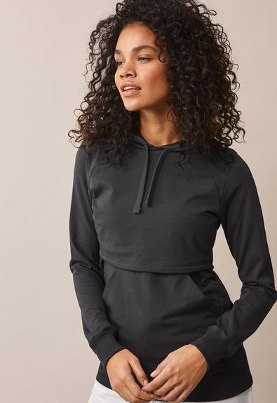 B Warmer hoodie - Iron - XL (1) - Umstandsshirt / Stillshirt