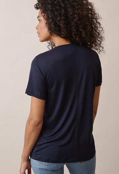 The-shirt v-neckmidnight blue (2) - Gravidtopp / Amningstopp