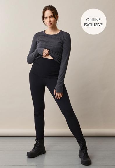 Once-on-never-off fleeceleggings - Black - S (1) - Maternity pants