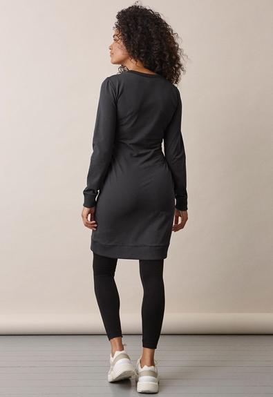 B Warmer dress - Iron - XS (2) - Maternity dress / Nursing dress