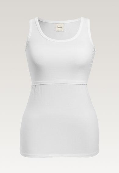 Classic tank topwhite (4) - Maternity singlet / Nursing singlet