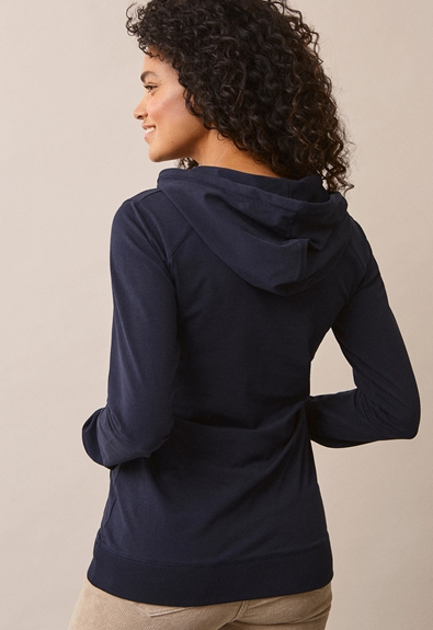 B Warmer hoodie - Midnight blue - S (2) - Gravidtopp / Amningstopp