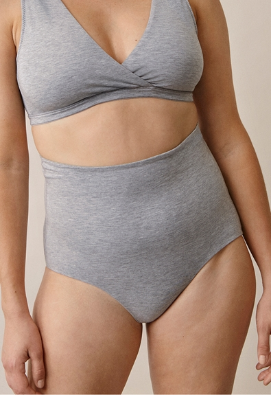 Soft support brief - Grey melange - XL (1) - Maternity underwear / Nursing underwear