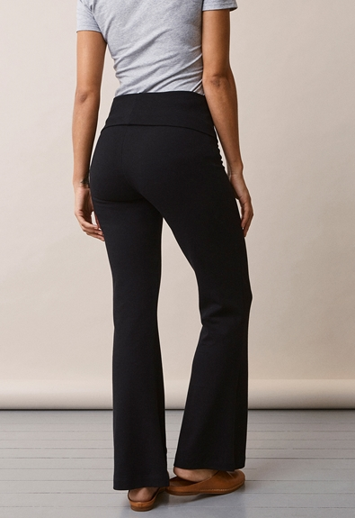 Once-on-never-off flared pants - Black - L (5) - Maternity pants