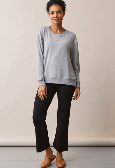 The sweatshirt - Grey melange - L (4) - Umstandsshirt / Stillshirt