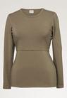 Classic long-sleeved top - Green khaki - L - small (5)