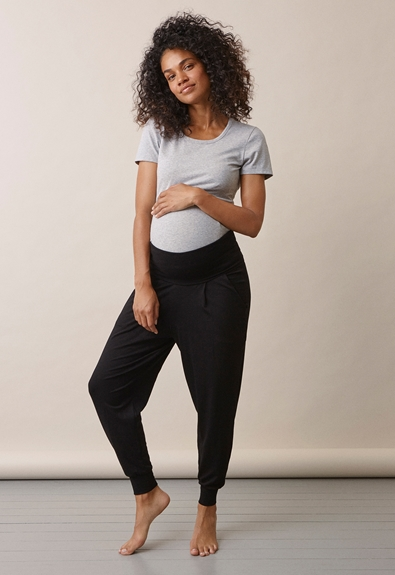 Once-on-never-off easy pants - Black - L (1) - Maternity pants