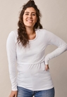 Classic long-sleeved top - White - L - small (1)