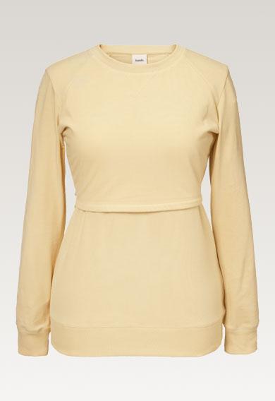 B Warmer sweatshirtvanilla (4) - Maternity top / Nursing top