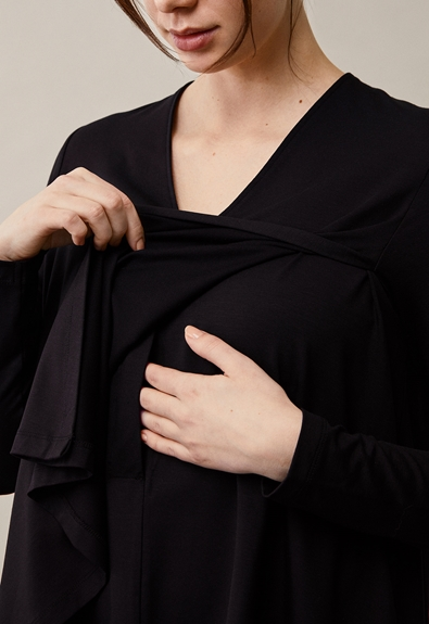 Easy v-neck top - Black - XL (5) - Maternity top / Nursing top