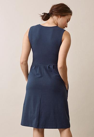 Tilda dressthunder blue (3) - Umstandskleid / Stillkleid