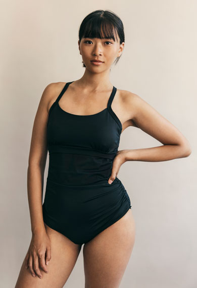Fast Food swimsuitblack (4) - Materinty swimwear / Nursing swimwear