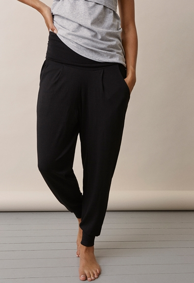 Once-on-never-off easy pants - Black - L (2) - Maternity pants
