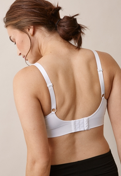 Fast Food T-shirt bra , White L (2) - Maternity underwear / Nursing underwear