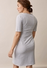 Night dress, white/grey melange XL - small (3)