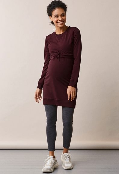 B.Warmer klänning - Eggplant - M (1) - Gravidklänning / Amningsklänning