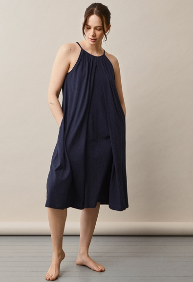 Air halterneck midi dress