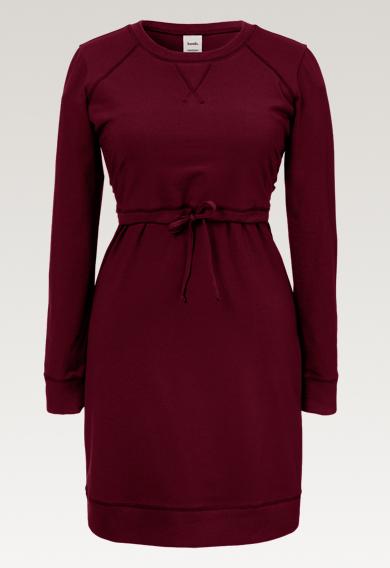 B Warmer dressburgundy (6) - Maternity dress / Nursing dress