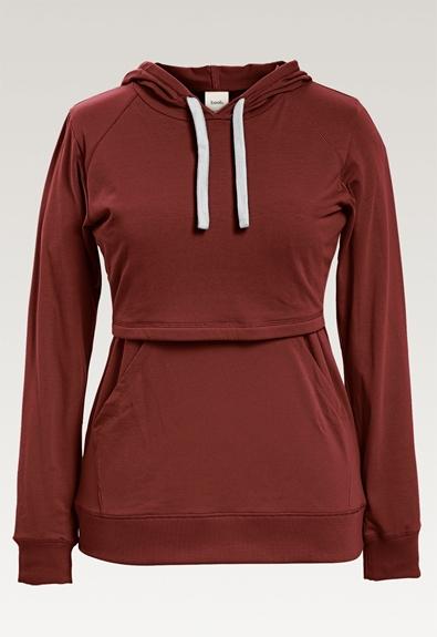 B Warmer hoodie - Cayenne - XL (6) - Maternity top / Nursing top