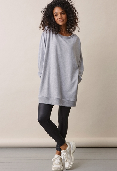 BFF sweatshirt - Grey melange - M (2) - Maternity top / Nursing top