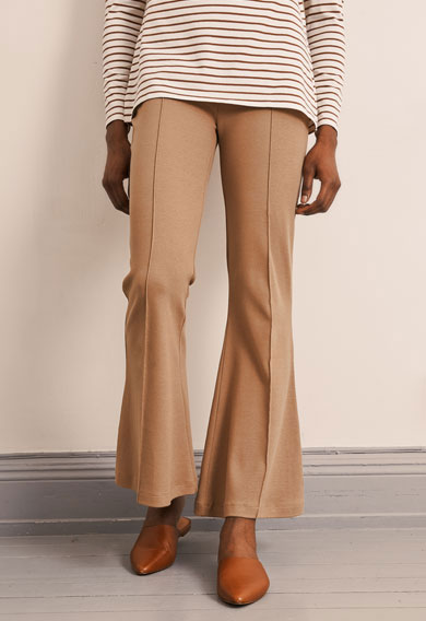 OONO flared pantscamel (1) - Maternity pants