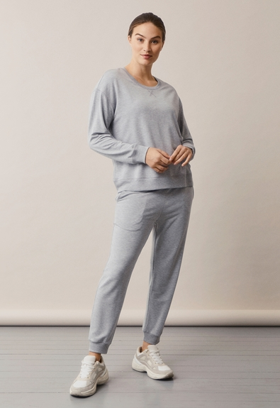 BFF jogger - Grey melange - L (1) - Maternity pants