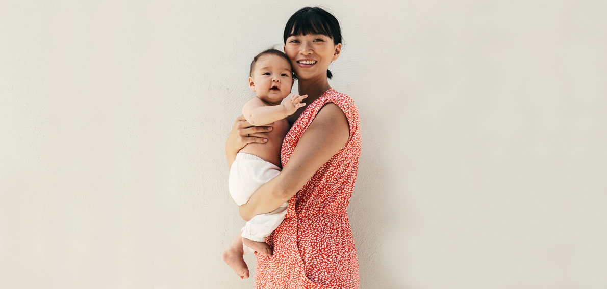 Cinzia Chang with her son Erling