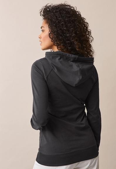 B Warmer hoodie - Iron - XL (2) - Umstandsshirt / Stillshirt