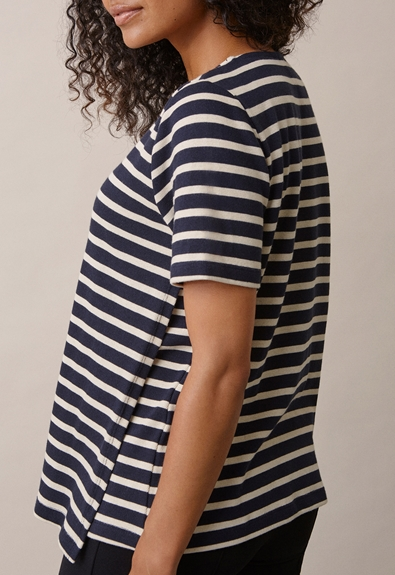 Breton short-sleeve top - Midnight blue/tofu - M (3) - Umstandsshirt / Stillshirt