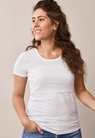 Classic short-sleeved top - White - L - small (5)