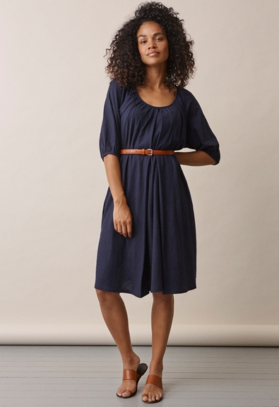 Air short-sleeved dress - Midnight blue - L (2) - Maternity dress / Nursing dress
