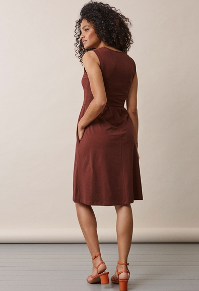 Tilda dress - Cayenne - XL (2) - Maternity dress / Nursing dress