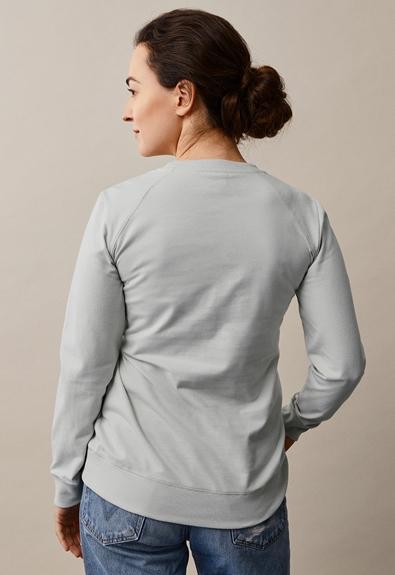 B Warmer sweatshirt - Frozen grey - S (2) - Umstandsshirt / Stillshirt