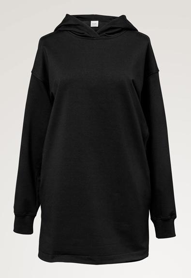 BFF hoodie - Black - M (7) - Maternity top / Nursing top