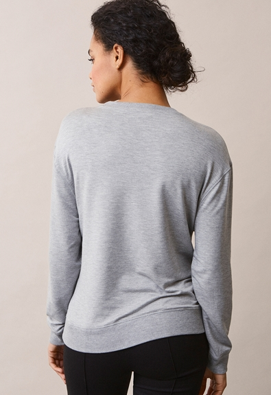 The sweatshirt - Grey melange - L (5) - Umstandsshirt / Stillshirt