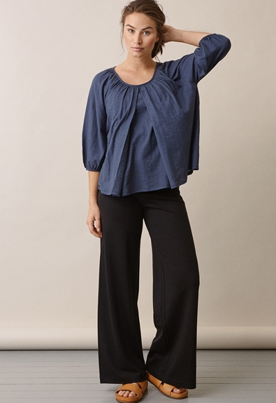 Air blouse - Thunder blue - S (3) - Maternity top / Nursing top