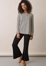 Breton long-sleeved top - Tofu/Midnight blue - L - small (2)