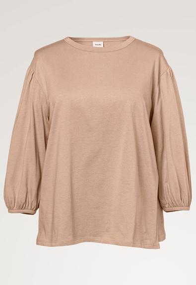 The-shirt blouse - Sand - XL (7) - Maternity top / Nursing top