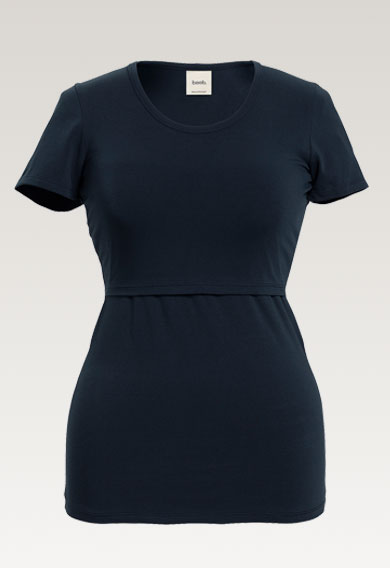 Classic s/s topmidnight blue (4) - Maternity top / Nursing top
