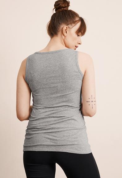 Classic linne - Grey melange - L (3) - Gravidlinne / Amningslinne