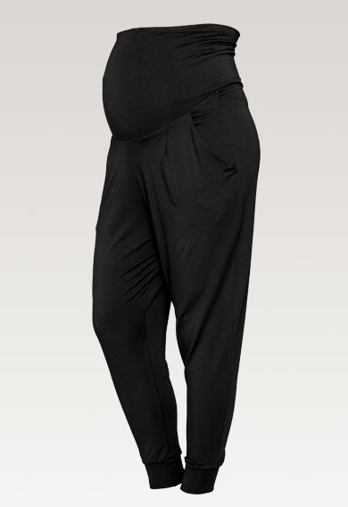 Once-on-never-off easy pants - Black - L (6) - Maternity pants