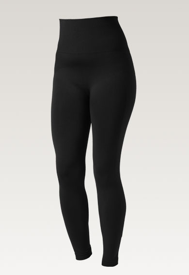 Soft support leggings - Black - S/M (5) - Maternity pants