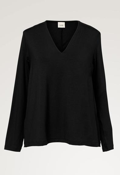 Easy v-neck top - Black - XL (6) - Maternity top / Nursing top